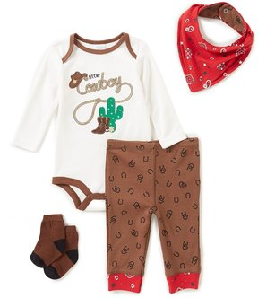Starting Out Baby Boys Newborn-9 Months Cowboy Printed 4-Piece Layette Set