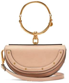Chloé Nile Minaudiere Small Leather Clutch - Womens - Light Pink