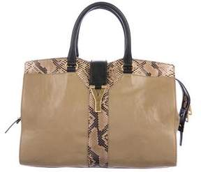 Saint Laurent Python-Trimmed Cabas Chyc Bag