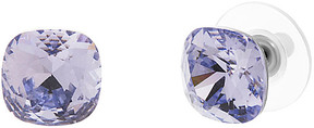 Bliss Lavendar Square Stud Earrings With Swarovski® Crystals