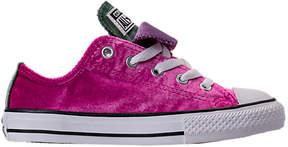 Converse Girls' Preschool Chuck Taylor All Star Velvet Double Tongue Casual Shoes
