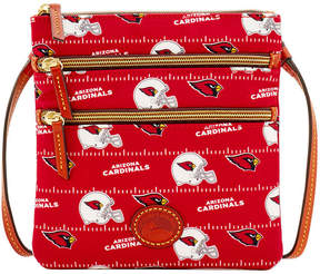 Dooney & Bourke Arizona Cardinals Nylon Triple Zip Crossbody - RED - STYLE