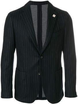 Lardini pinstripe single-breasted blazer
