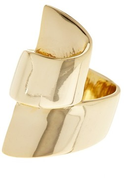 Ariella Collection Ribbon Metal Ring - Size 7