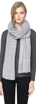 Soia & Kyo MIRI Extra long knit scarf in Ash