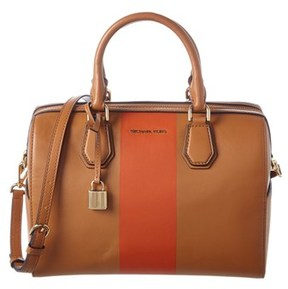MICHAEL Michael Kors Mercer Leather Medium Duffle. - ACORN/ORANGE - STYLE