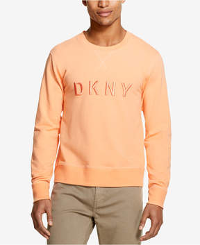 DKNY Men's French Terry Embroidered-Logo Sweatshirt, Created for Macy's