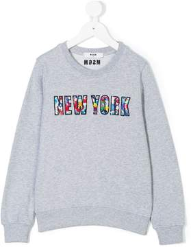 MSGM New York bead embroidered sweatshirt