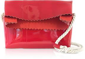 Maison Margiela Red Patent Leather Foldover Shoulder Bag