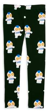 Fendi Toddler's, Little Girl's and Girl's Elasticized Leggings