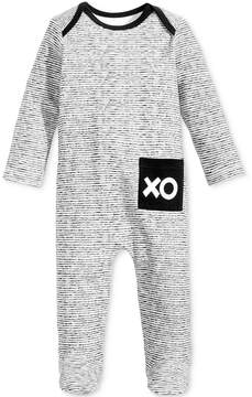 First Impressions 1-Pc. Striped Xo Footed Cotton Coverall, Baby Boys & Girls (0-24 months), Created for Macy's