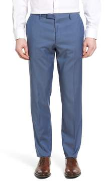 BOSS Men's Leenon Flat Front Solid Wool Trousers