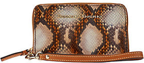Dooney & Bourke As Is City Python Leather Zip Around Phone Wristlet - ONE COLOR - STYLE