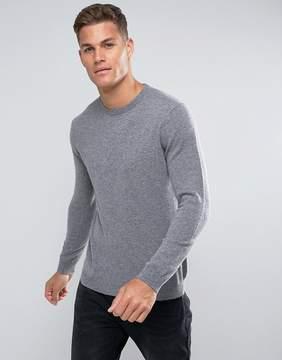 Benetton 100% Merino Sweater In Gray