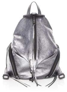 Rebecca Minkoff Metallic Medium Julian Backpack - GUNMETAL - STYLE