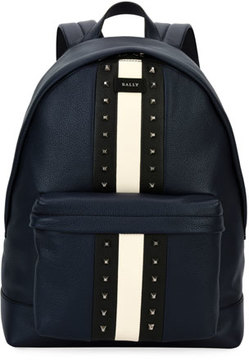 Bally Hingis Studded Leather Backpack, Blue