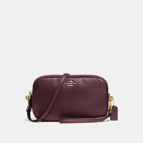 COACH Coach Crossbody Clutch - LIGHT GOLD/OXBLOOD - STYLE