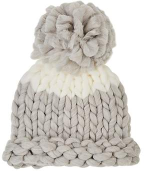 Barneys New York WOMEN'S COLORBLOCKED CHUNKY-KNIT BEANIE