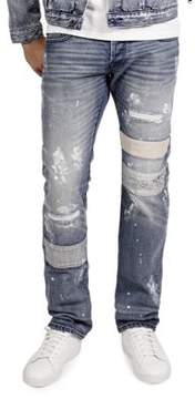 Cult of Individuality Rebel Straight Splattered Jeans