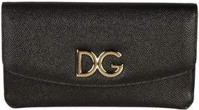 Dolce & Gabbana Logo Flap Continental Wallet - BLACK - STYLE
