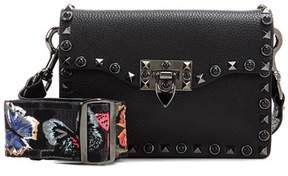 Valentino Rockstud Rolling Noir leather shoulder bag