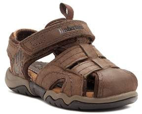 Timberland Oak Bluffs Leather Fisherman Dark Brown Sandal (Toddler & Little Kid)