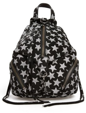 Rebecca Minkoff Mini Julian Metallic Star Nubuck Leather Convertible Backpack - Black - BLACK - STYLE