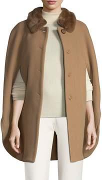 Cinzia Rocca Women's Rabbit Fur Trimmed Coat