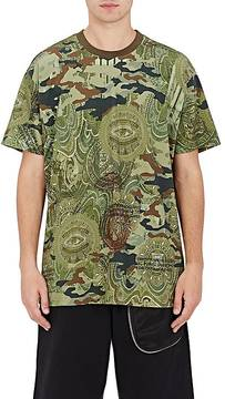Givenchy GIVENCHY MEN'S CAMOUFLAGE- & MONEY-PRINT T-SHIRT
