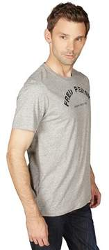 Fred Perry 1952 Tartan T-shirt In Vintage Steel Marl.