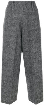 Lardini cropped high-waisted trousers