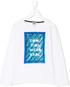 Karl Lagerfeld printed long-sleeved T-shirt