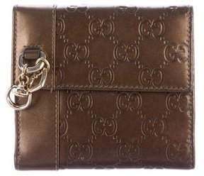 Gucci Guccissima Compact Wallet - BROWN - STYLE