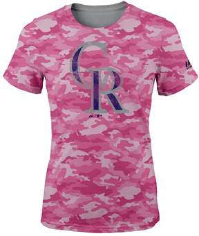 Majestic Girls 7-16 Colorado Rockies Homerun Hero Tee