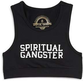 Spiritual Gangster Girls' Logo Sports Bra - Big Kid