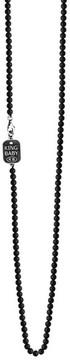 King Baby Studio Men's Onyx Bead Necklace