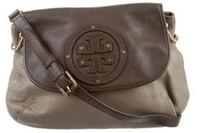 Tory Burch Leather Shoulder Bag - BROWN - STYLE