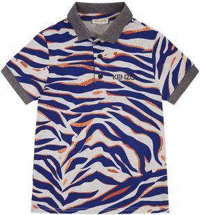 Kenzo Tiger Print Polo Shirt