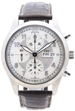 IWC Flieger Spitfire 3706 Stainless Steel Silver Dial 39mm Mens Watch