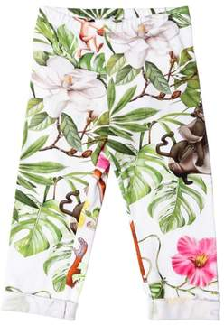 MonnaLisa Jungle Book Print Cotton Jersey Leggings