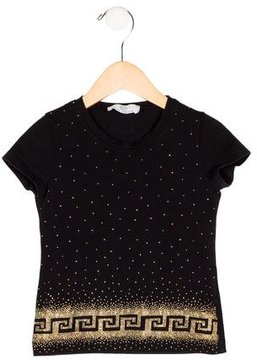 Versace Girls' Embellished Knit Top