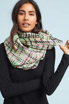 Anthropologie Plaid Shimmer Infinity Scarf
