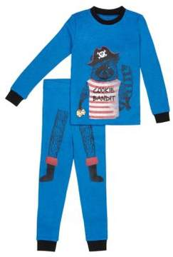 Petit Lem Little Boys Two-Piece Cookie Bandit Pirate Pajama Set