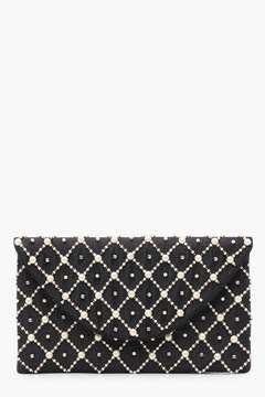 boohoo Niamh Pearl & Diamante Envelope Clutch