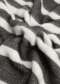 Mango Outlet Striped scarf