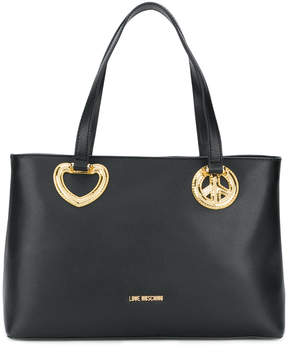 Love Moschino appliqué heart detail tote