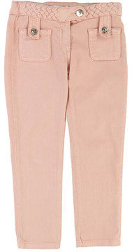 Chloé Denim Braided Trousers, Size 4-5