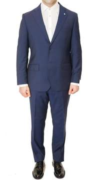 Lubiam Short Drop 4 Blue Wool Suit