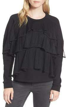 Chelsea28 Mesh Ruffle Sweatshirt