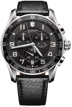 Victorinox Men's Chrono Classic XLS Leather Strap Watch, 45mm